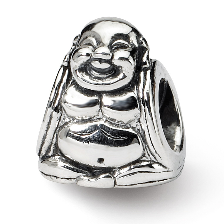 925 Sterling Silver Charm For Bracelet Buddha Bead Religious Fine Jewelry Gifts For Women For Her - image 4 of 4