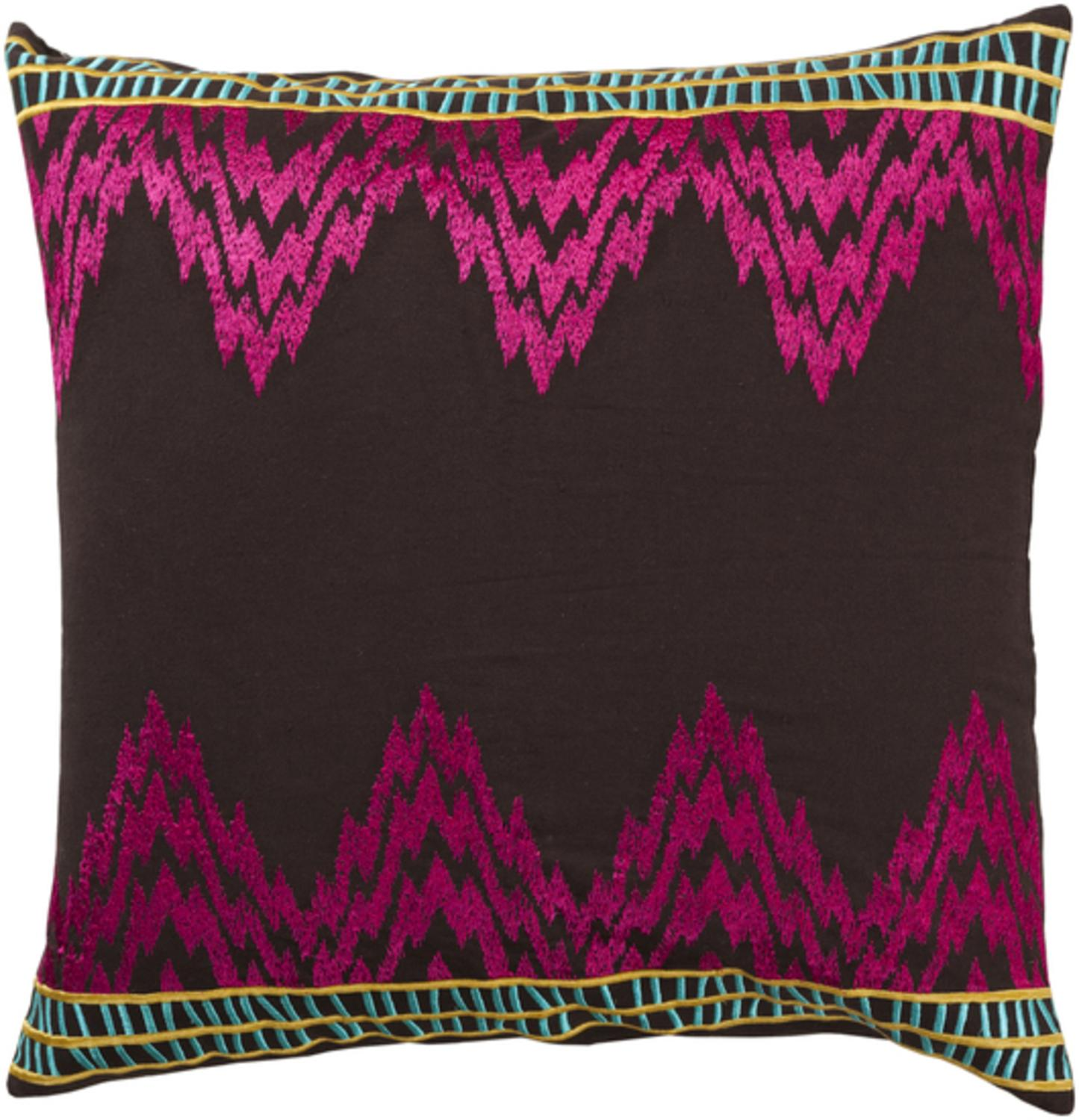 "18"" Purple Frequency Decorative Cotton Square Throw Pillow"