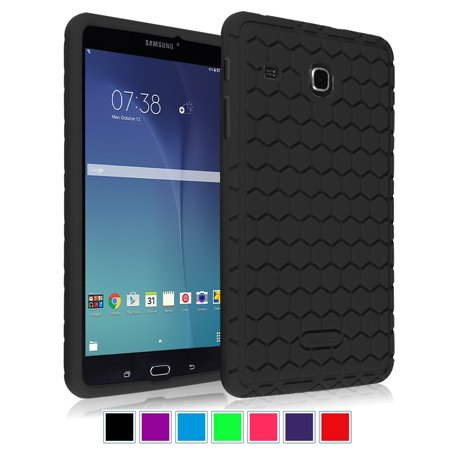 factory price 176f1 9e79e Fintie Silicone Case for Samsung Galaxy Tab E 8.0 Tablet - Lightweight Anti  Slip Shock Proof Skin Cover, Black