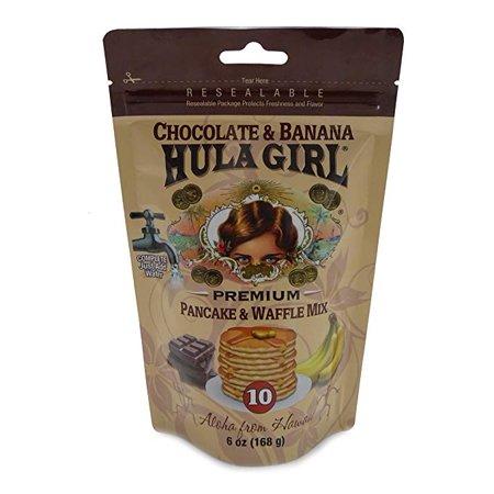 Hula Girl Chocolate and Banana Pancake and Waffle Mix 6oz (168 g) ()