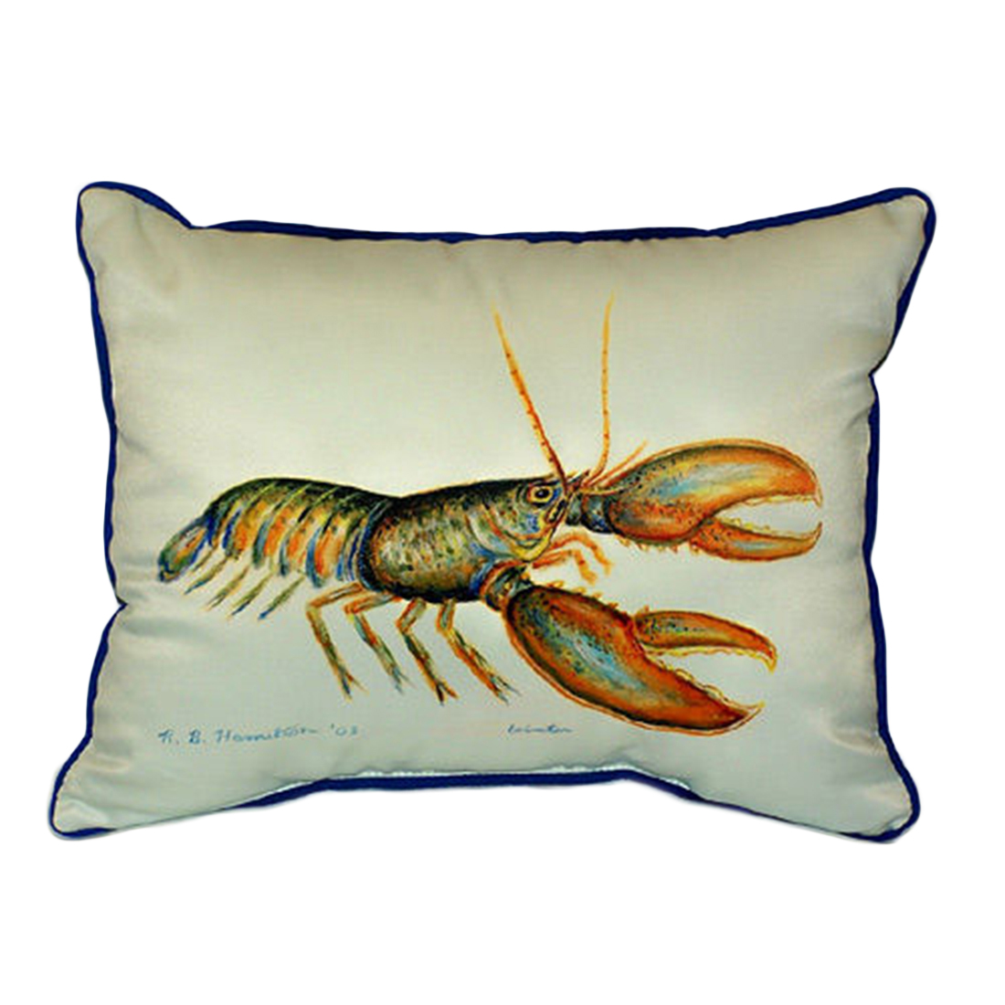 Betsy Drake Lobster Extra Large 20 X 24 Indoor / Outdoor Zippered Pillow