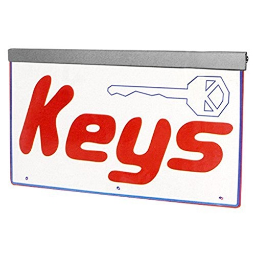 Actiontek Acrylic LED Sign - Keys