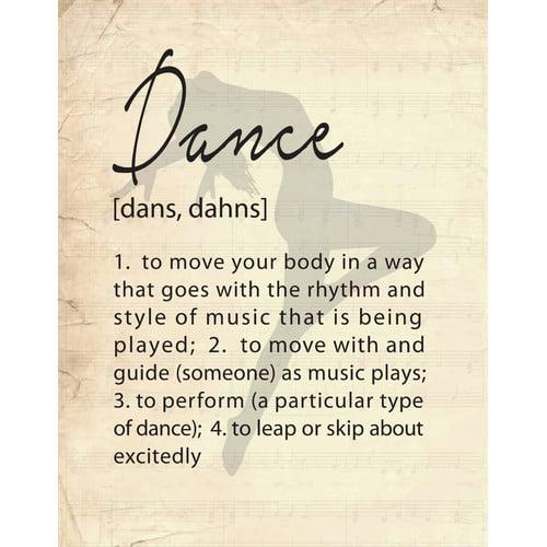 Evive Designs Dance by Susan Newberry Textual Art