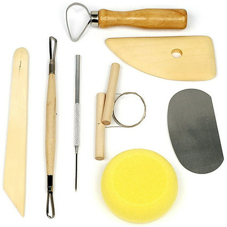 Stalwart 8 Piece Pottery & Clay Modelling Tool Sculpture -
