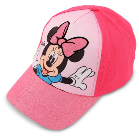 Disney Minnie Mouse Cotton Baseball Cap, Little Girls, Age 2-4 or 4-7