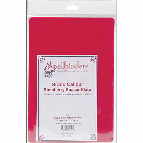 "Spellbinders Spellbinders Grand Calibur Spacer Plate, 8.25"" x 11.75"", Raspberry"