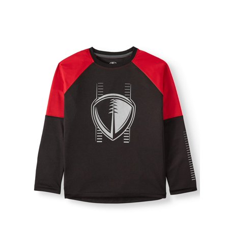 Athletic Works Long Sleeve Raglan Graphic T-Shirt (Little Boys, Big Boys, & Husky)