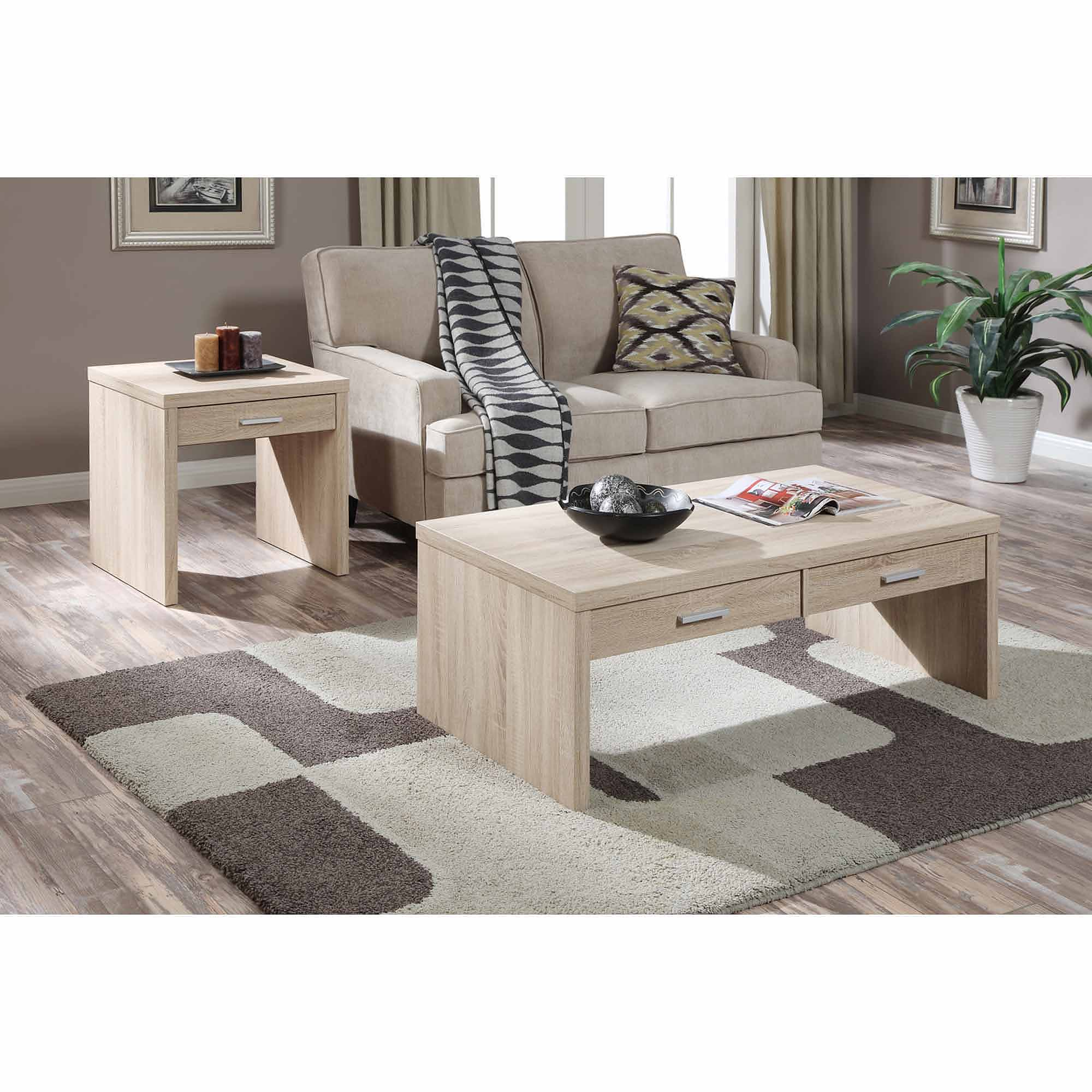 Convenience Concepts Key West Coffee Table Weathered White