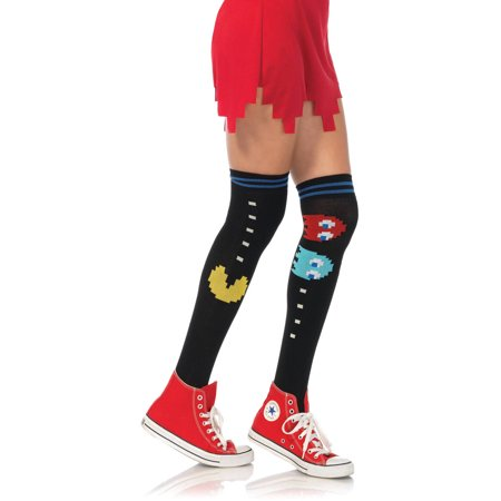 Leg Avenue Adult Pac Man and Ghost Over the Knee Socks - Pagan Halloween Name