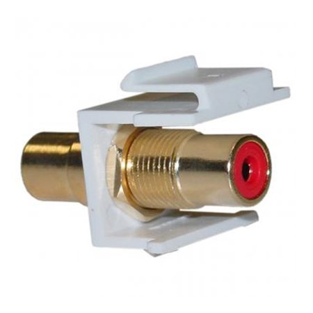 Rca Red Insert (Offex Keystone Insert, White, RCA Female Coupler (Red RCA))