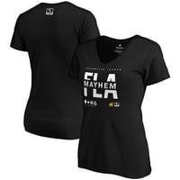 Florida Mayhem Fanatics Branded Women's Overwatch League Splitter V-Neck T-Shirt - Black