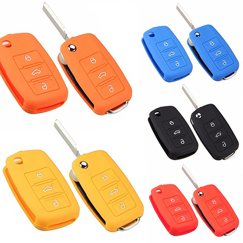 Girl12Queen Universal Car Accessories Silicone Car Key Holder Case Cover for Volkswagen VW