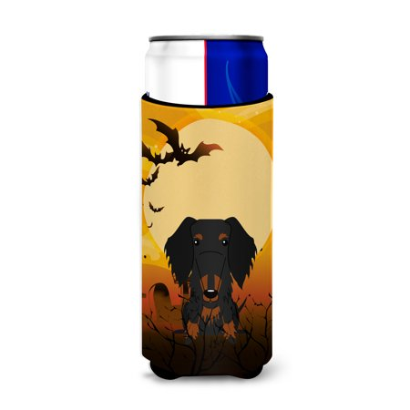 Halloween Wire Haired Dachshund Black Tan Michelob Ultra Hugger for slim cans BB4393MUK - Dachshund Halloween