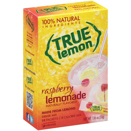 True Raspberry Lemonade Drink Mix, 1.06 oz, 10ct