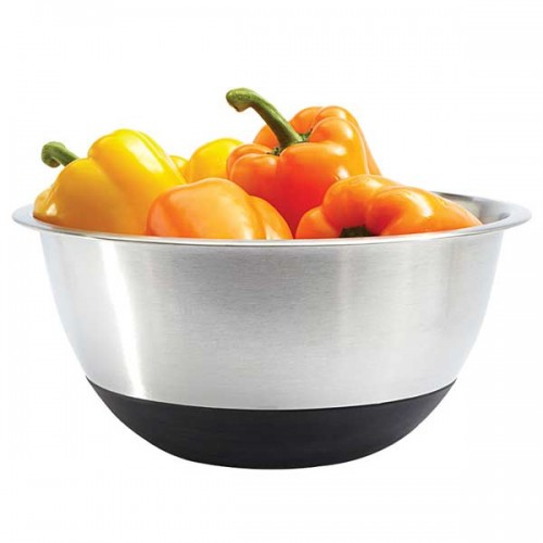 Amco 6.5 Qt. Stainless Steel Mixing Bowl Silicone Bottom by Amco
