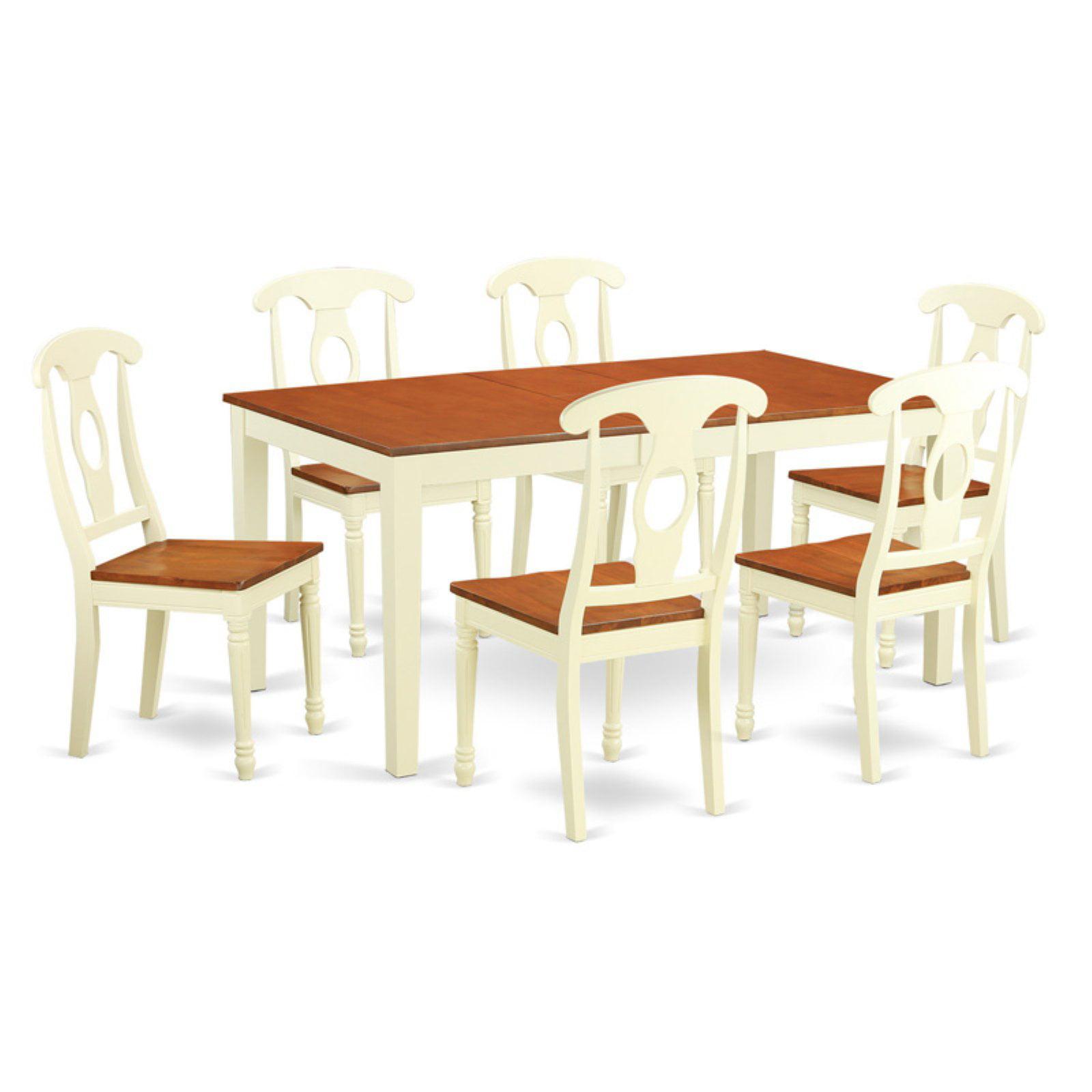 East West Nicoli 6 Piece Dining Set: East West Furniture Nicoli 7 Piece Keyhole Dining Table