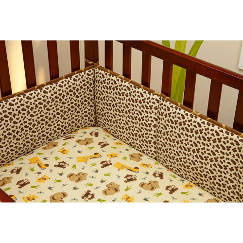 Little Bedding by NoJo Jungle Dreams 4-Piece Crib Bumper