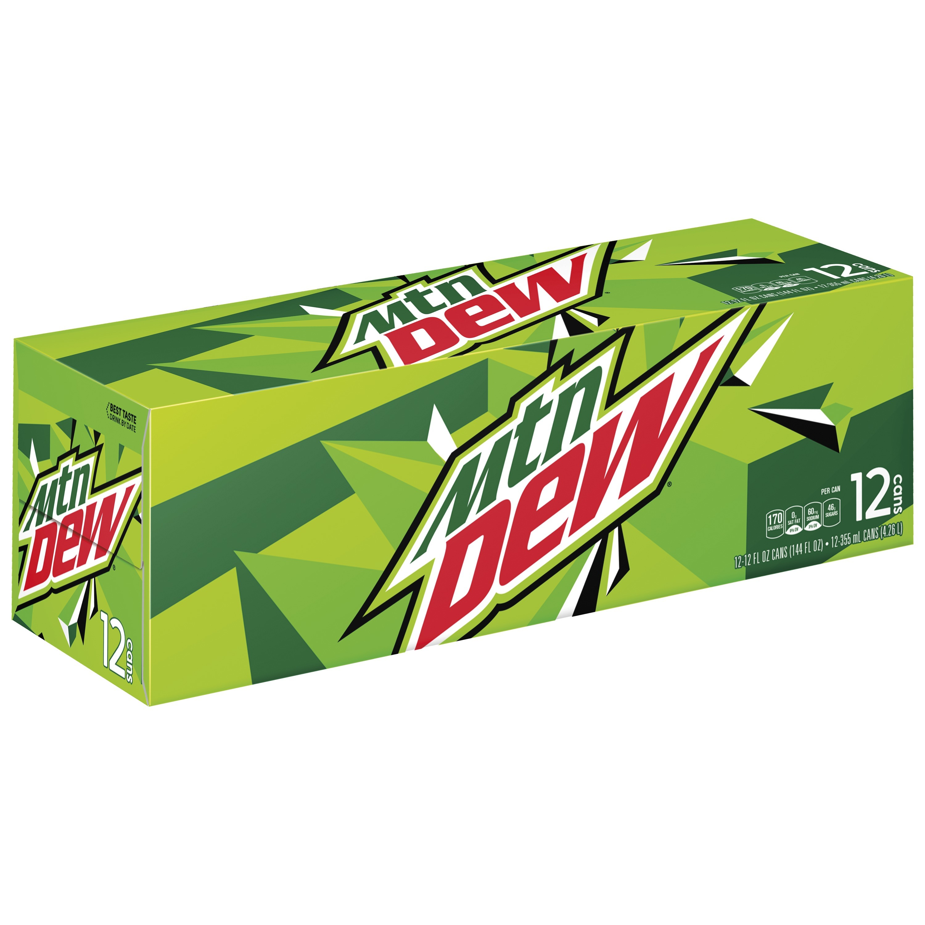 Mountain Dew Original Soda, 12 Fl Oz, 12 Count