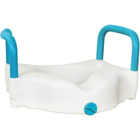 AquaSense 3-Way Raised Toilet Seat, White, (Best Aquasense Raised Toilet Seats)