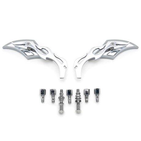 Diamond Twist Custom Chrome Motorcycle Mirrors For Victory