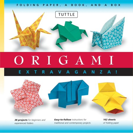 Origami Extravaganza! Folding Paper, a Book, and a Box : Origami Kit Includes Origami Book, 38 Fun Projects and 162 High-Quality Origami Papers: Great for Both Kids and Adults