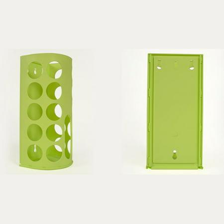 - Portable Plastic Bag Holder Garbage Bag Dispenser Eco Bag Storage Box Color:green