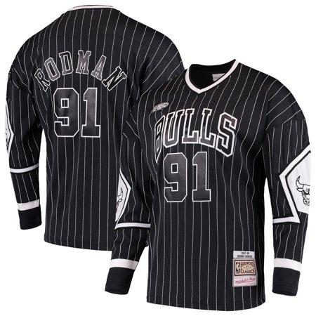 Dennis Rodman Chicago Bulls Mitchell & Ness Hardwood Classics Hockey Jersey -