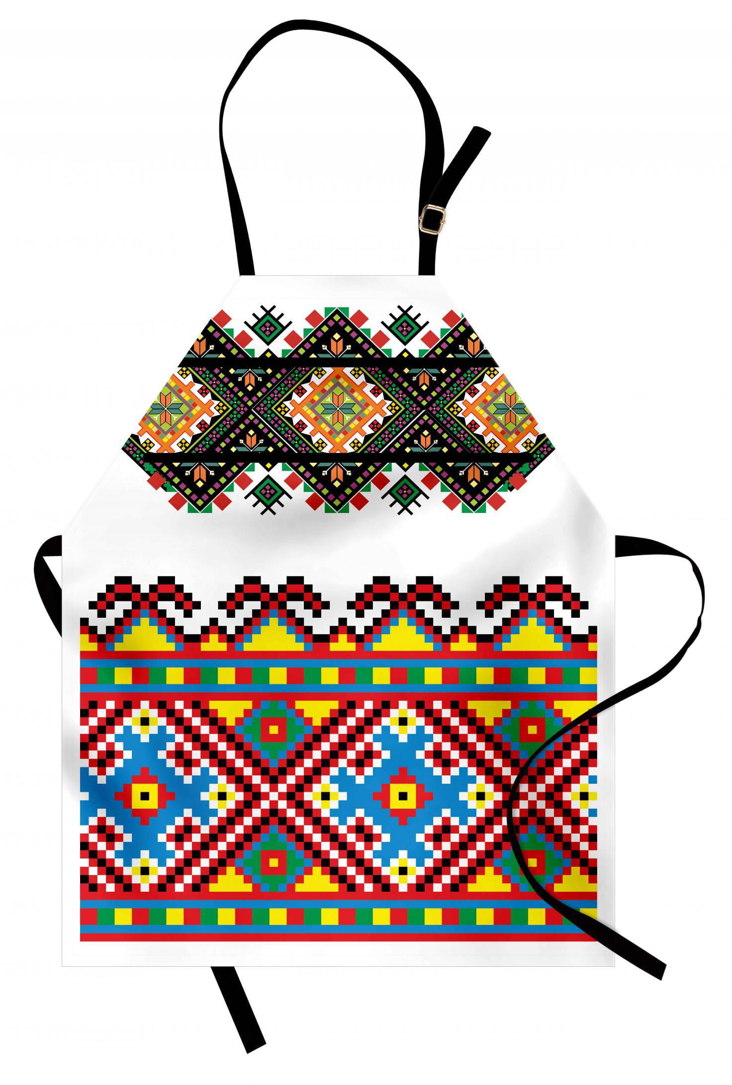 Ethnic Apron Retro Ukrainian Embroidery Ornament ...