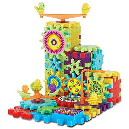 81 Piece Funny Bricks Gear Building Toy Set - Interlocking Learning Blocks - Motorized Spinning Gears Gear Set Toys
