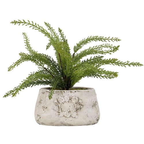 Ophelia Co Heather Spray In Oval Ceramic Floor Foliage Plant In