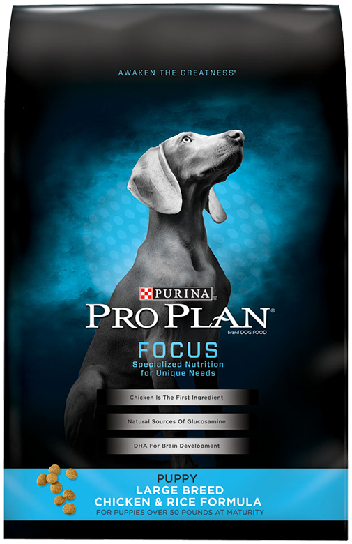 Purina Pro Plan FOCUS Large Breed Chicken & Rice Formula Dry Puppy Food 34 lb. Bag by Nestlé Purina PetCare Company
