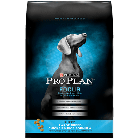 Purina Pro Plan FOCUS Large Breed Chicken & Rice Formula Dry Puppy Food - 34 lb.