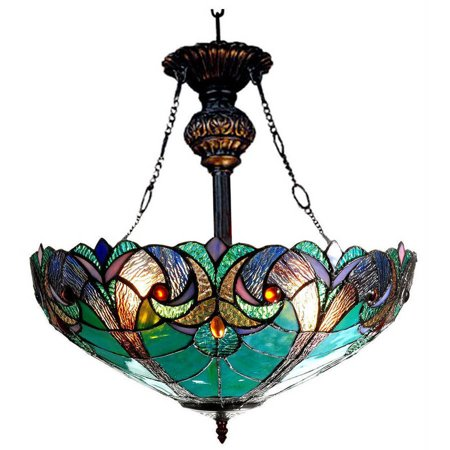 12 Light Inverted Pendant (Chloe Lighting Liaison Tiffany-Style 2-Light Victorian Inverted Ceiling Pendant with 18