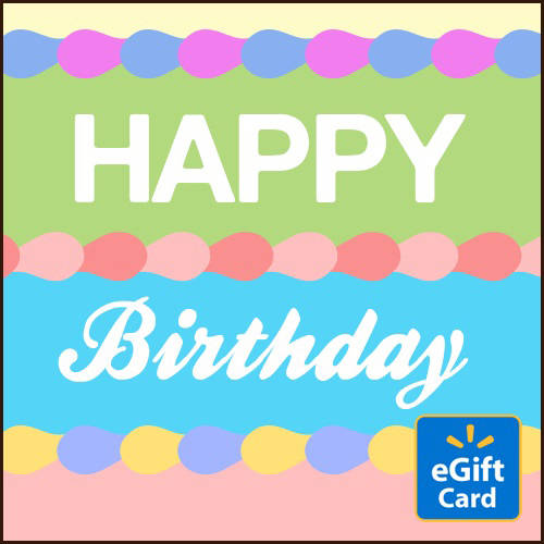 Happy Birthday Colors Walmart eGift Card