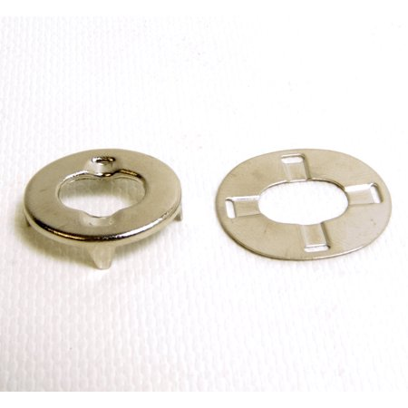 Common Sense Fastener Eyelet Portion Only w/ Oversized Backing Plate, 1 Pc. - Shipped from The USA!, Common Sense Eyelet & Backing Plate Only, 1 Set By Dot Scoville Ship from US (Portion Plate Walmart)
