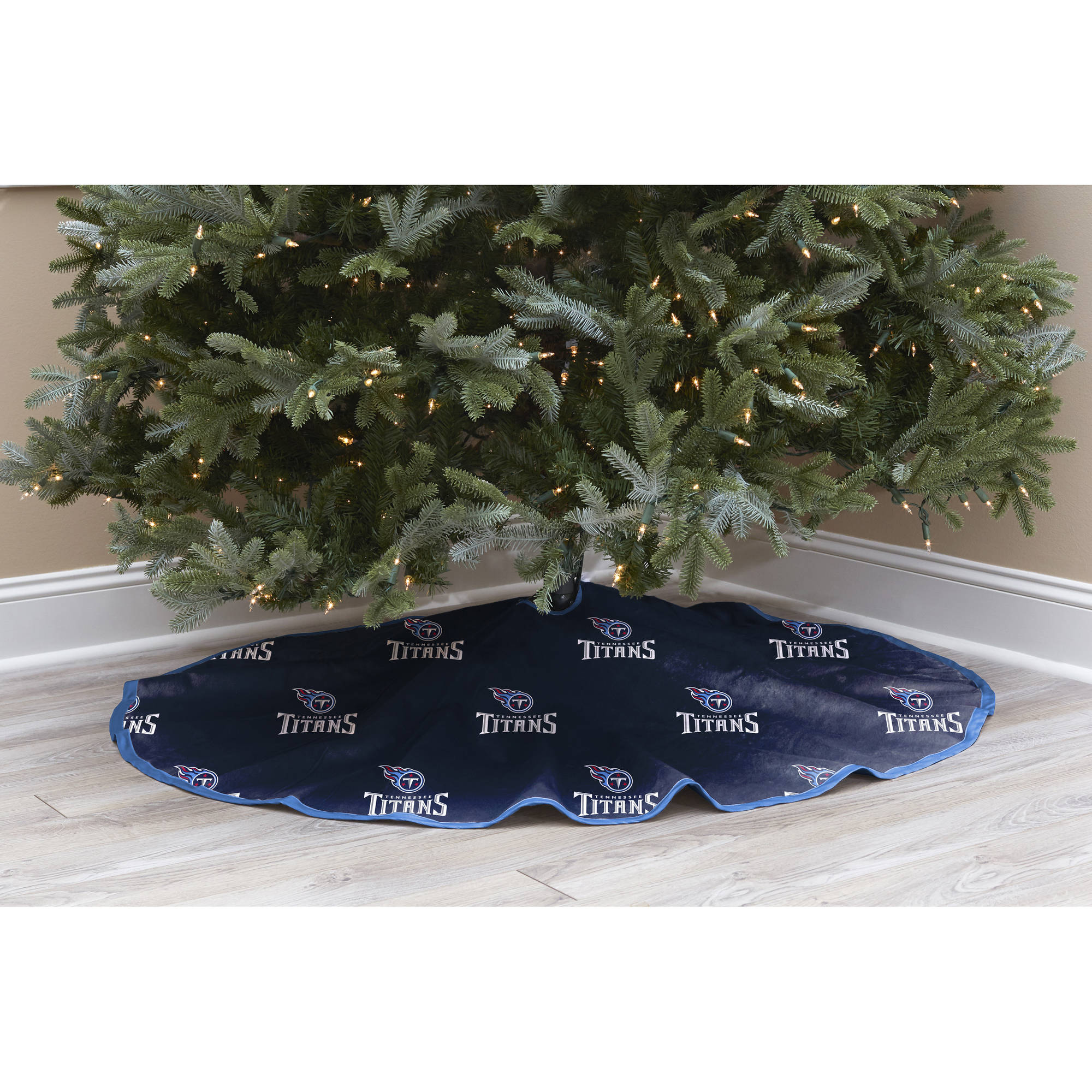 NFL Licensed Logo Christmas Tree Skirt, Tennessee Titans