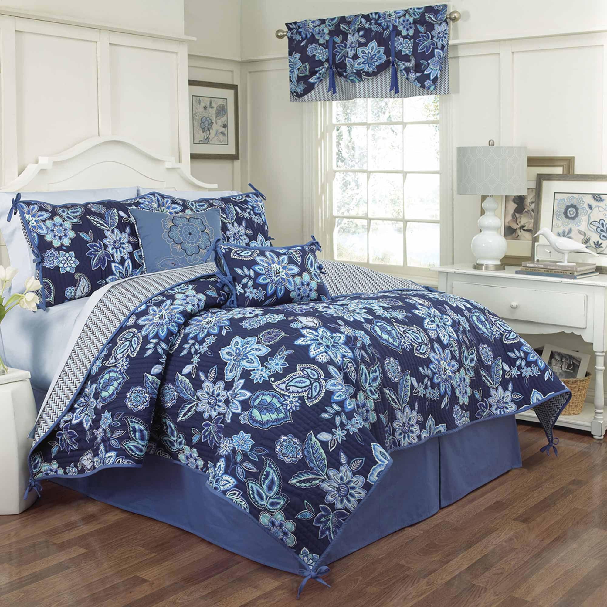 waverly charismatic reversible quilt set walmartcom - Waverly Bedding