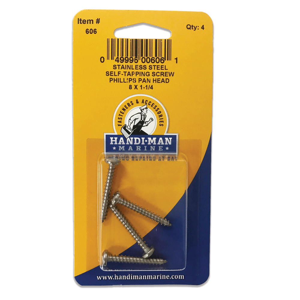 HANDI-MAN SS PHILLIPS SELF  TAPPING PAN SCREW 8 X 1-1/4
