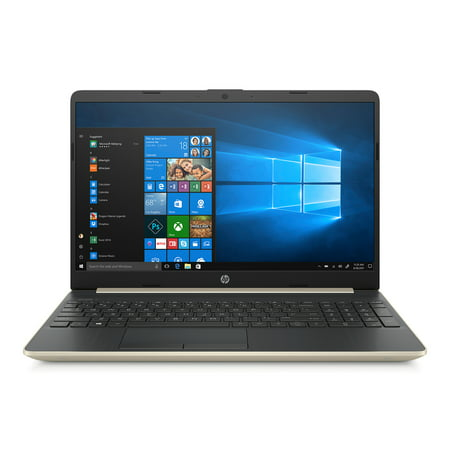 "HP 15 Laptop, 15.6"" HD Display, Intel Core i5-8265U, 8GB, 256GB SSD, Pale Gold, 15-dw0052wm"