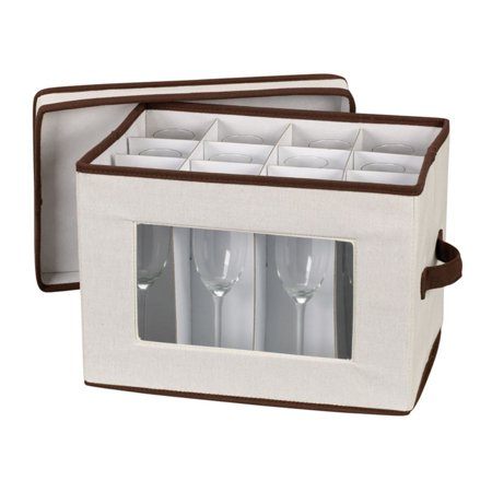 Household Essentials Window Vision Stemware Flute Chest