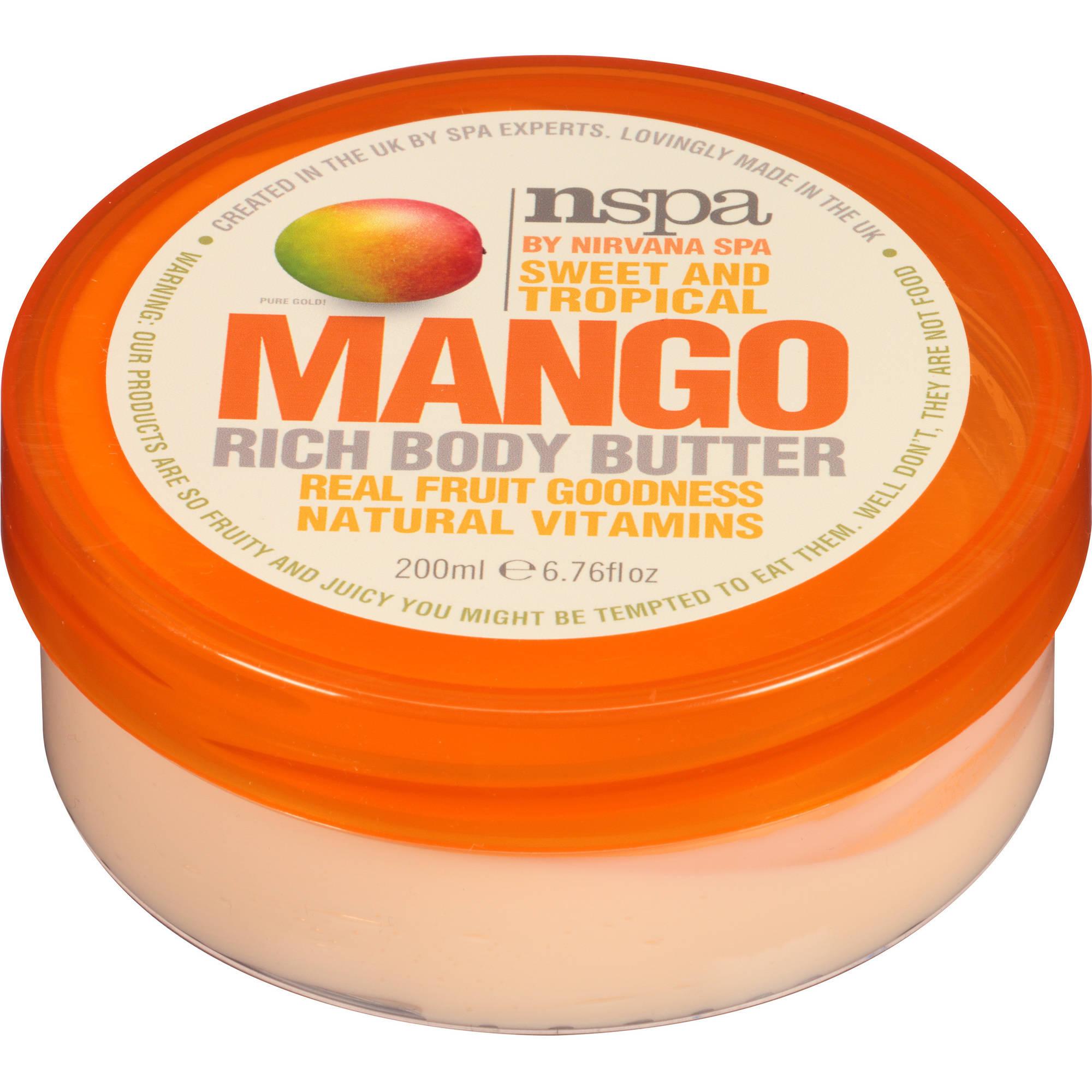 NSPA Sweet and Tropical Mango Rich Body Butter, 6.76 fl oz