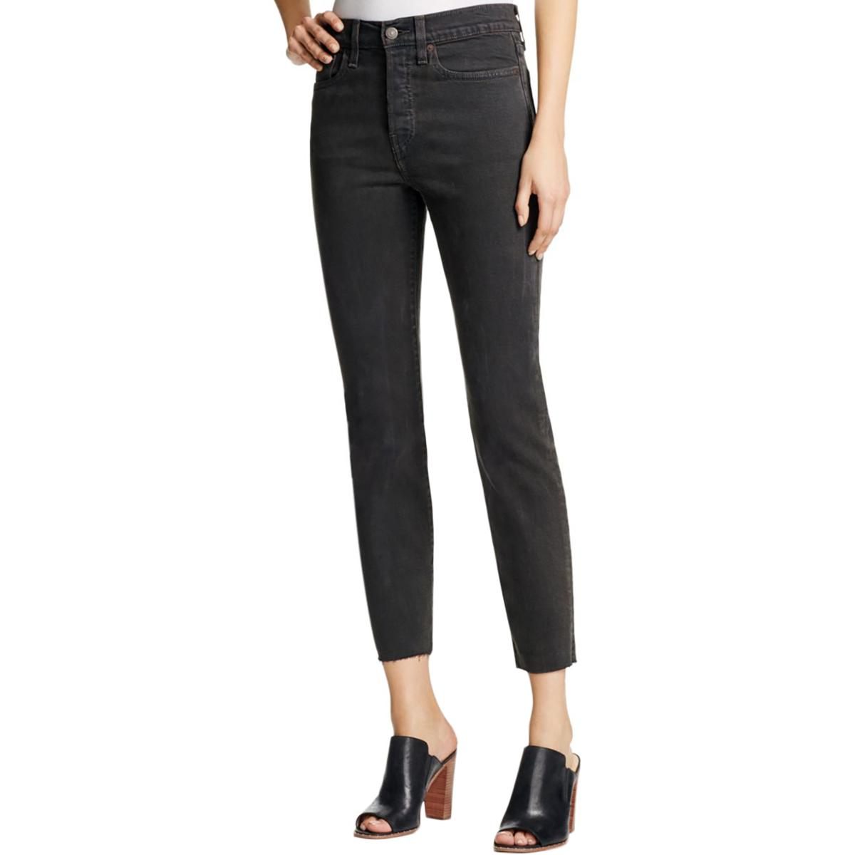 Levi's Womens Raw Hem High Rise Ankle Jeans
