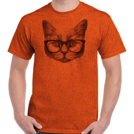 416d349c2dee Brisco Brands - Cool Hipster Cat Shirt
