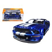 2008 Ford Shelby Mustang GT500 KR Blue 1/24 Diecast Car Model by Jada