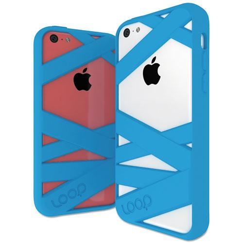 Loop Attachment Mummy Case for Apple iPhone 5c - Cyan