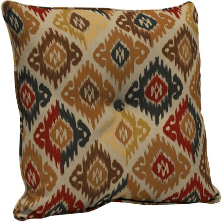 Better homes and gardens deep seat pillow back with button outdoor cushion ikat diamonds for Better homes and gardens deep seat cushion