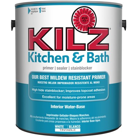 Kilz Kitchen Bath Interior Latex Primer Sealer Stain Blocker With Mildew Resistant Finish