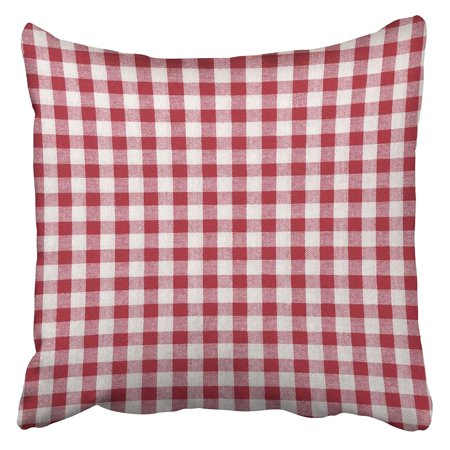 ECCOT Table Red and White Striped Top Gingham Linen Napkin View Plaid Vintage Pillowcase Pillow Cover 18x18 inch](Red And White Gingham Napkins)