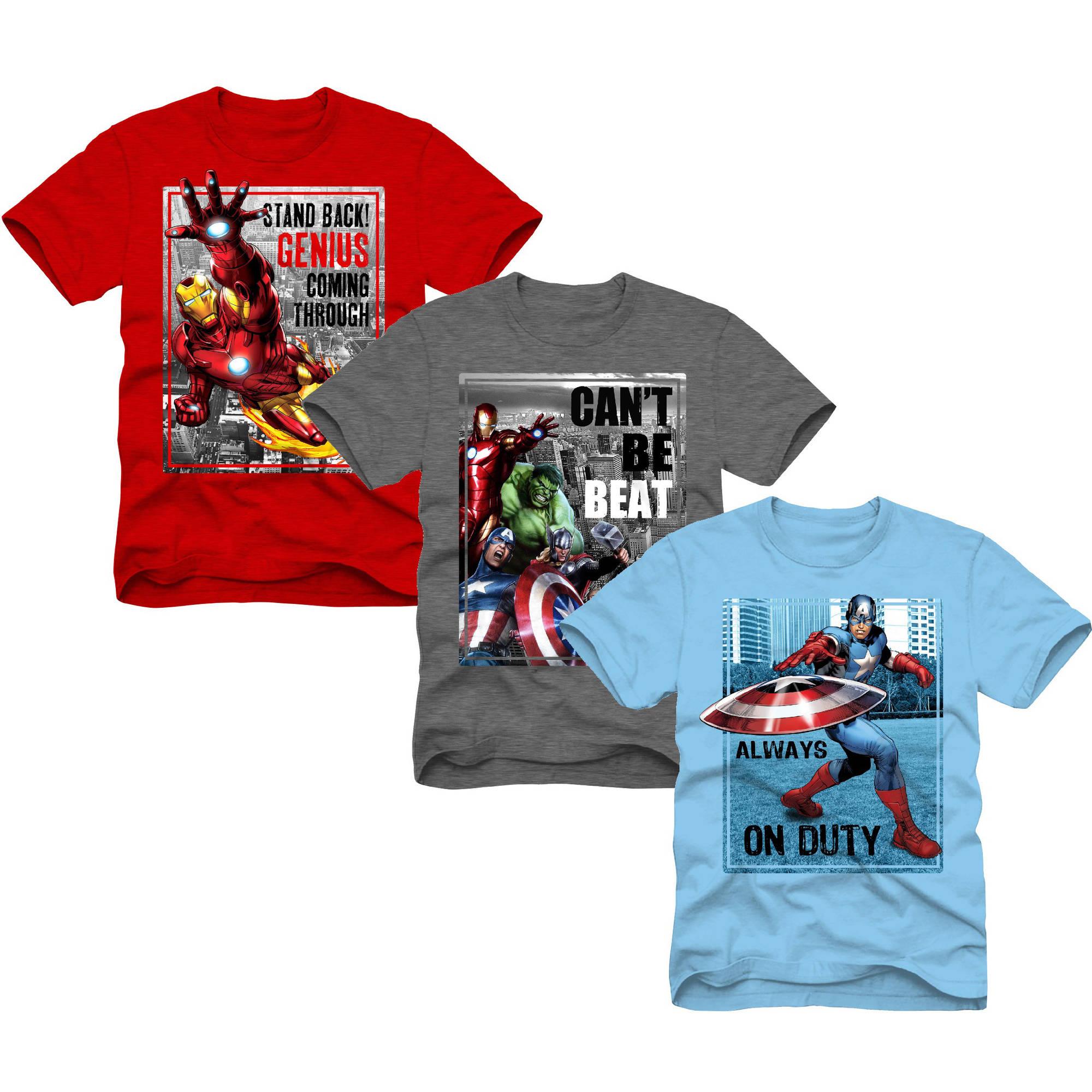 Marvel Superheroes Boys Graphic Tee, Value 3 Pack
