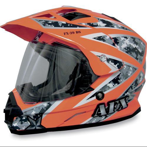 AFX FX-39DS Dual Sport Urban Full-face Street Helmet Orange